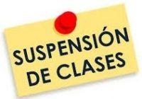 SUSPENSIÓN DE CLASES