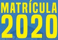 CALENDARIO MATRÍCULAS 2020